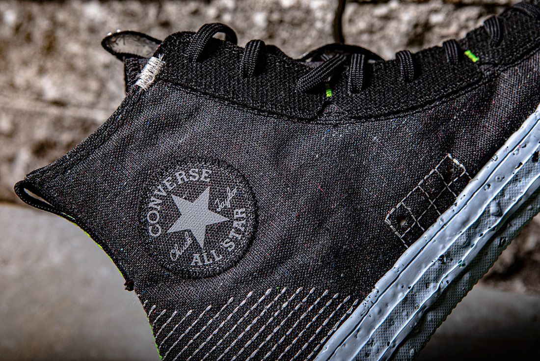 converse crater badge up close