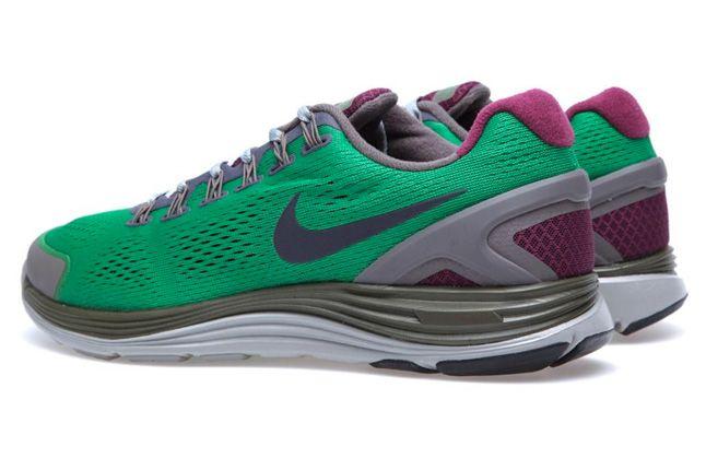 Nike Gyakusou Lunarglide 4 Pack Victory Green Pair Heels 1