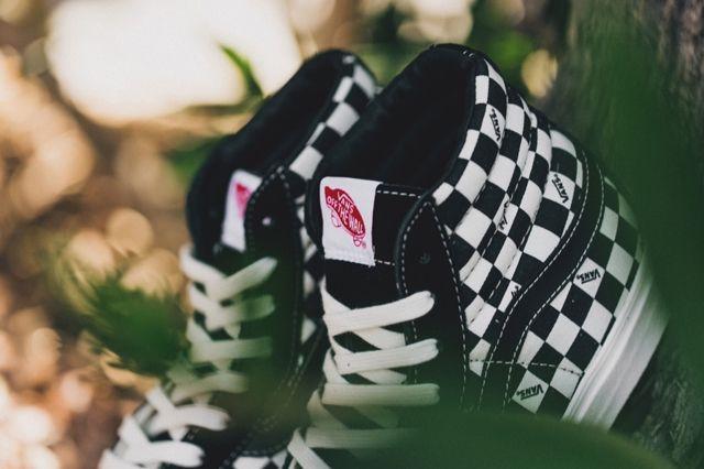 Vans Vault Sk8 Ho Checkerboard Black White 2