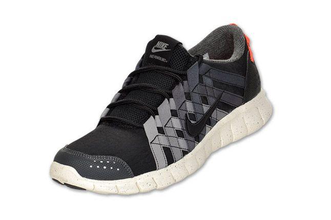 Nike Free Powerlines Mens Running Black Orange Grey Quater 1