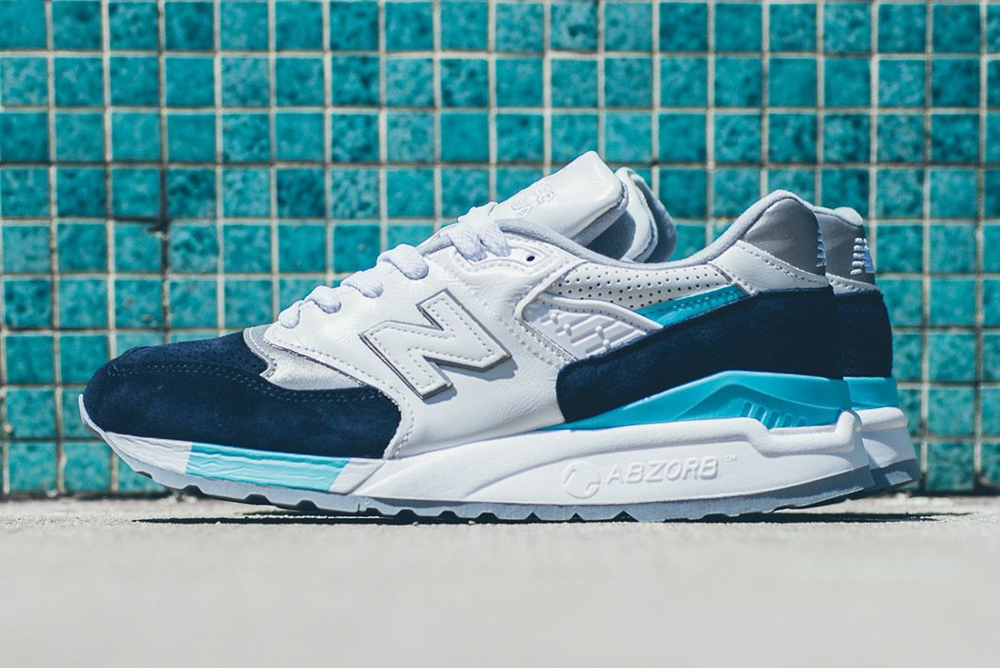 New Balance 998 White Navy Blue 7