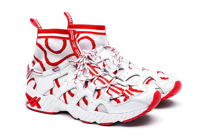 Vivienne Westwood Asics Gel Mai Knit Mt White Red Release Date Pair
