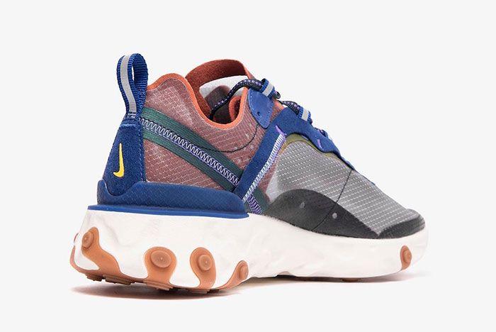 Nike React Element 87 Blue Red Heel