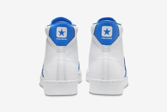 Converse Pro Leather Hi Blue Heels
