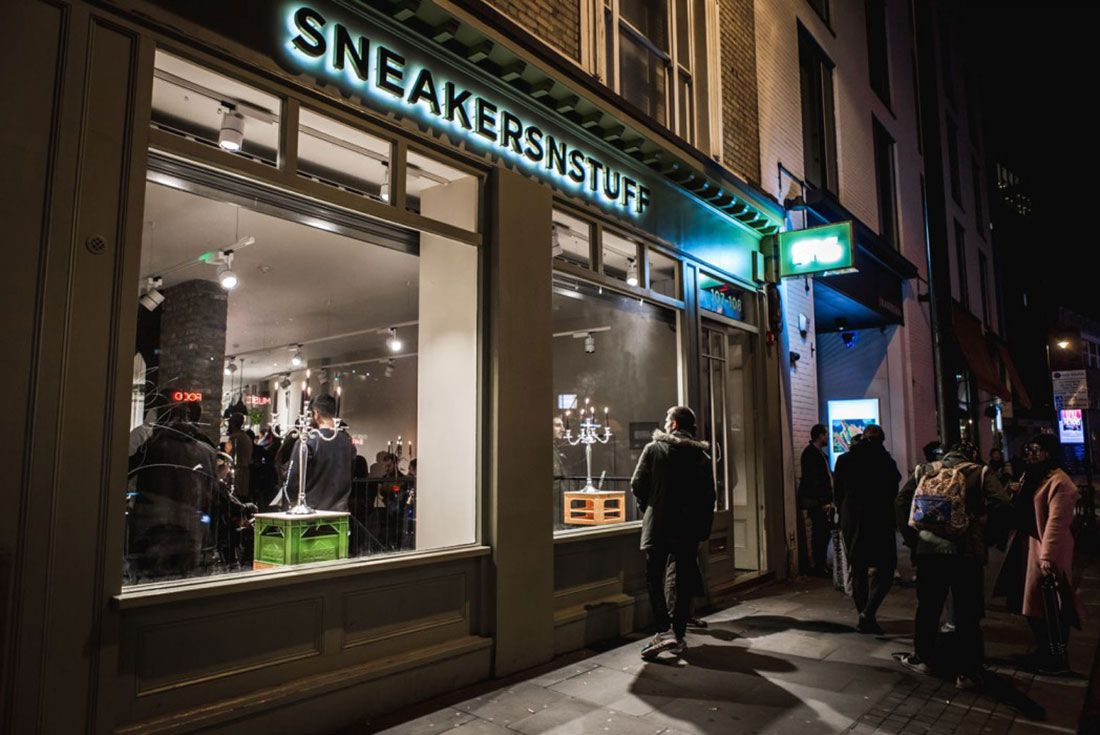 Sneakersnstuff London Store Front