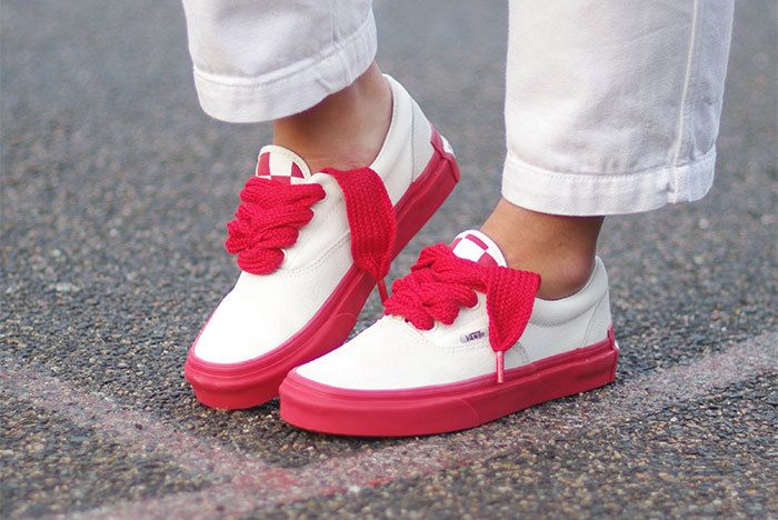 Vans Year Of The Pig X Purlicue Era Marshmallow Racing Red Image1