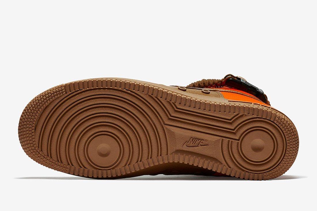 Nike Sf Air Force 1 Desert Ochre Brown Orange 1