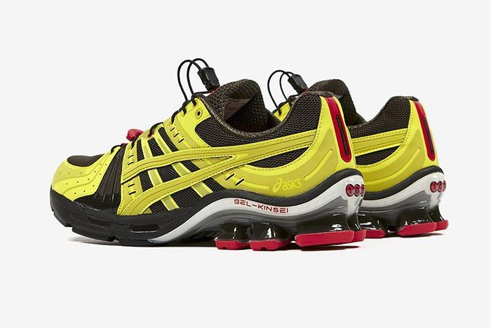 Affix Works Asics Gel Kinsei Yellow Lateral Three Quarter Angled Heel Shot