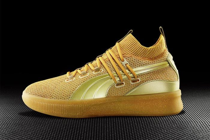 Puma Clyde Court Title Run Gold Lateral