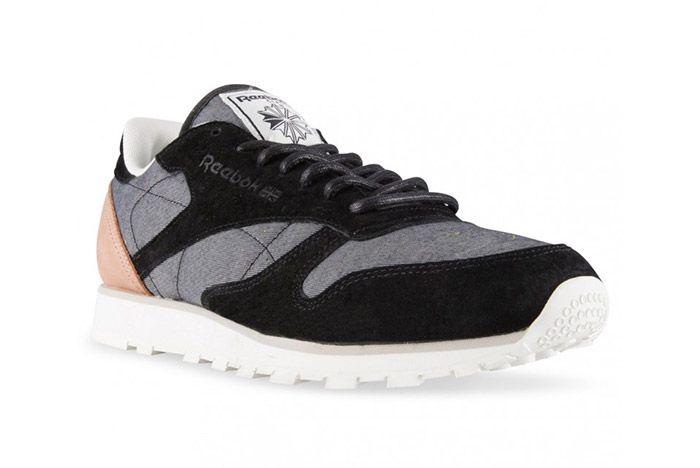 Reebok Classic Leather Black Grey Fleck 3