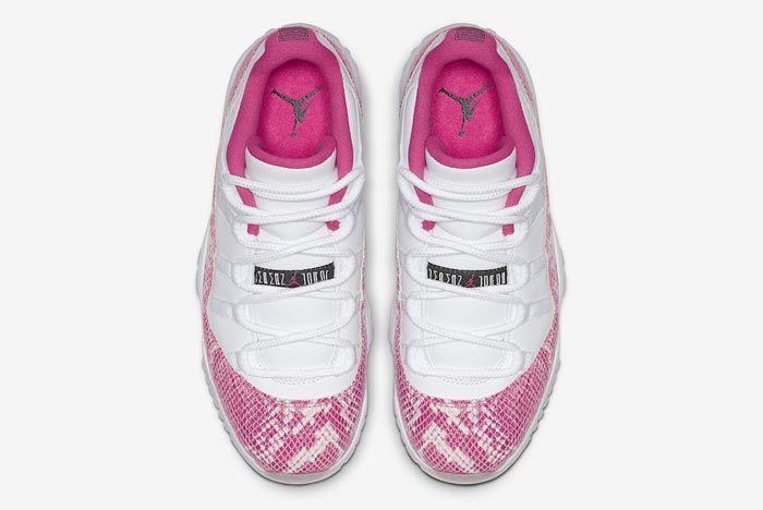 Air Jordan 11 Low Pink Snakeskin Top