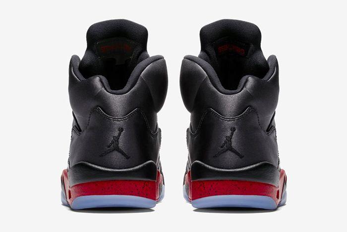 Air Jordan 5 Black Satin Official 4