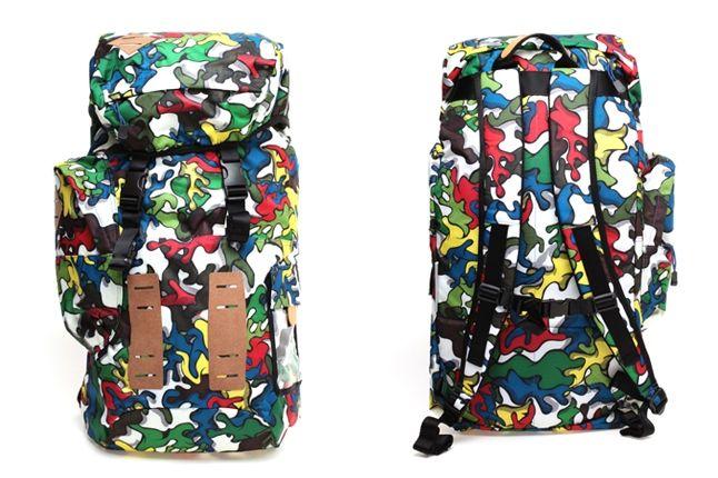 Miharayasuhiro Puma Pop Art Camo Backpack Back Front 1