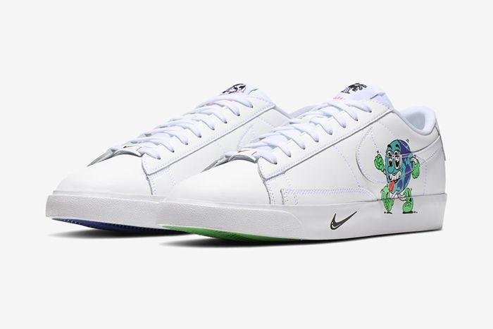 Steven Harrington Nike Blazer Low Earth Day Release Date Pair