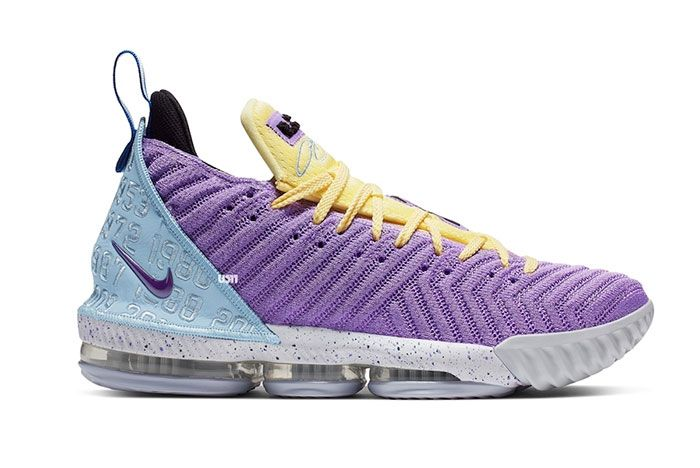 Nike Le Bron 16 Lakers Ck4765 500 Release Date 2 Side
