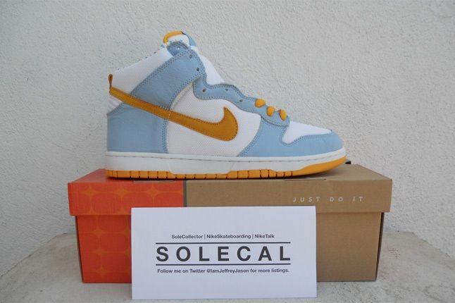 Nike Dunk Hi White Yellow Blue 1