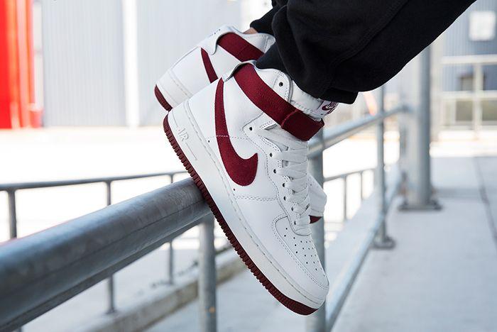 Nike Air Force 1 High Red Burgundy 4