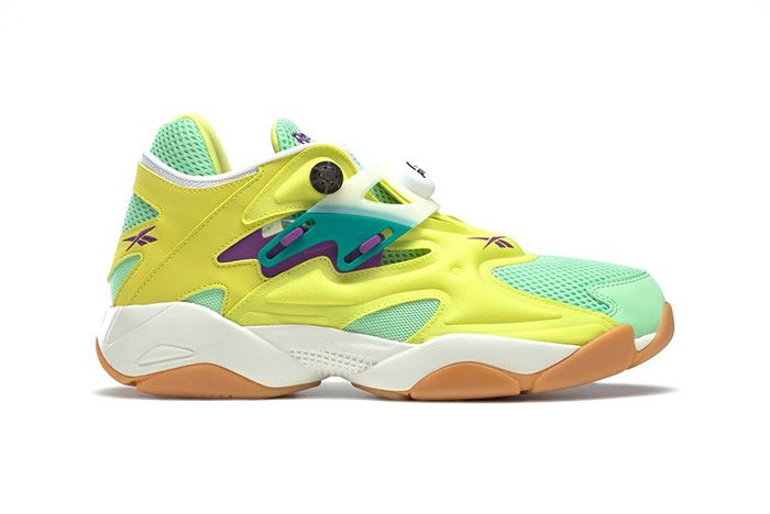 Reebok Pump Court Hero Yellow Seafoam Green Chalk Fv7901 Lateral