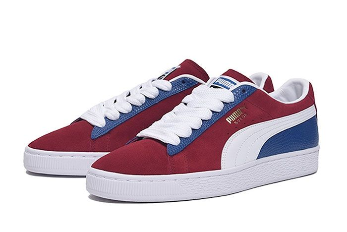 Billys Tokyo Puma Suede Classic Two Toned Red Front Angle