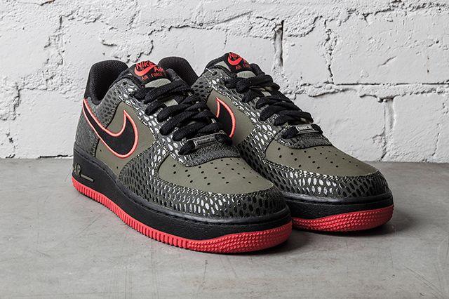 Nike Air Force 1 Medium Olive Light Crimson