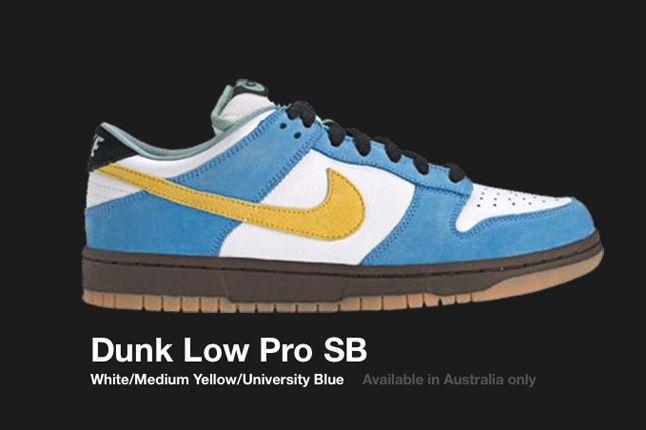 Nike Dunk Low Sb White Yellow Uni Blue Aus Only 2004 1