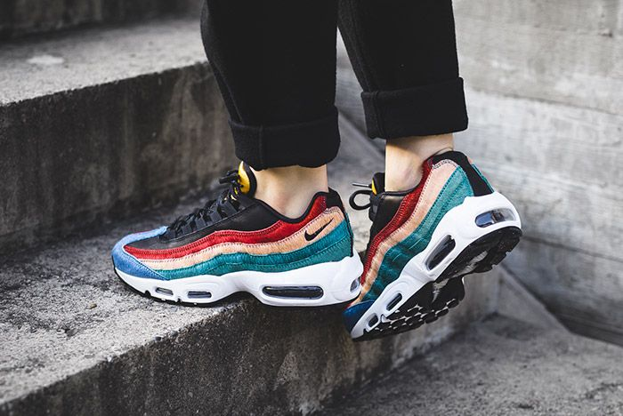 Nike Womens Air Max 95 Premium Dark Cayene Rio Teal 3