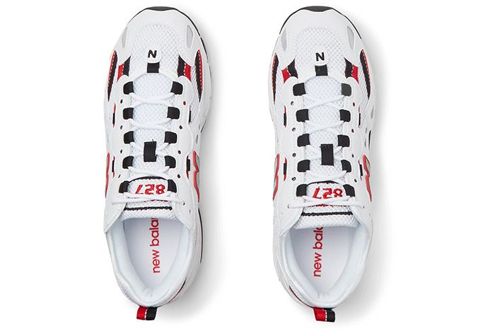 New Balance 827 White Blk Red Top 1