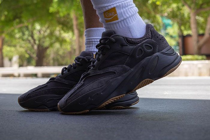 Yeezy Boost 700 Utility Black On Foot 1