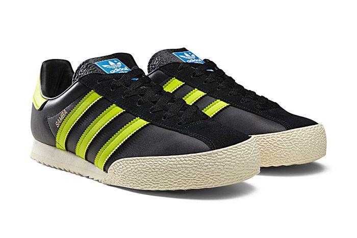 Adidas Spezial Samba Black Neon Green 1