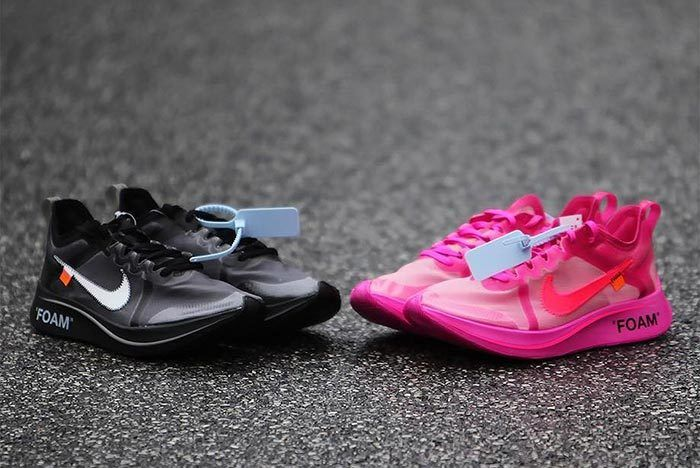 Off White Nike Zoom Fly Pink Black