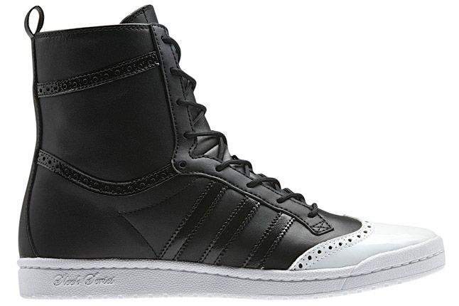 Adidas Top Ten High Sleek Brogue Black Profile 1