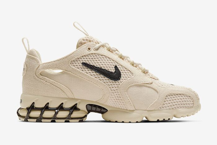 Stussy Nike Air Zoom Spiridon Caged Fossil Right