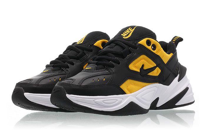 Nike M2 K Tekno Black University Gold Ao3108 014 Release Date 2Pair Angle