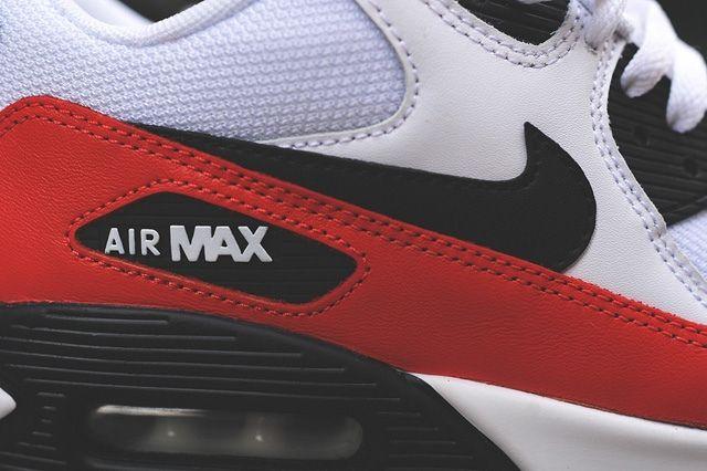 Nike Air Max 90 White Red Black 7