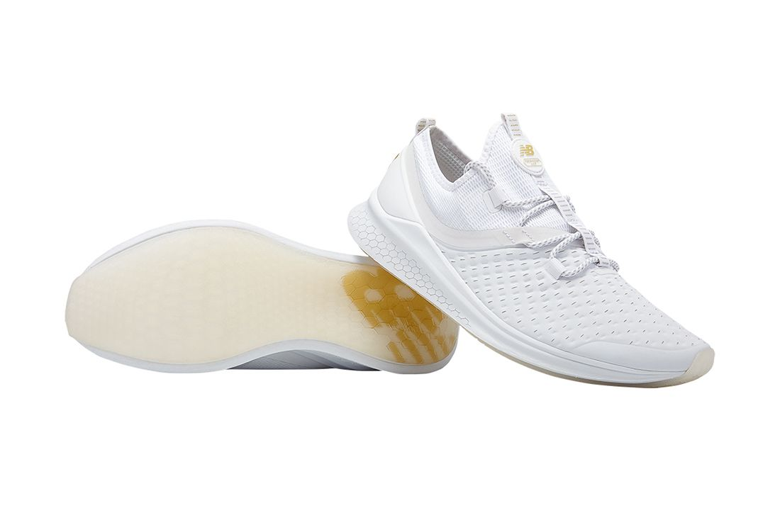 Lazr Elite White Pair New Balance Fresh Foam Material Matters Feature