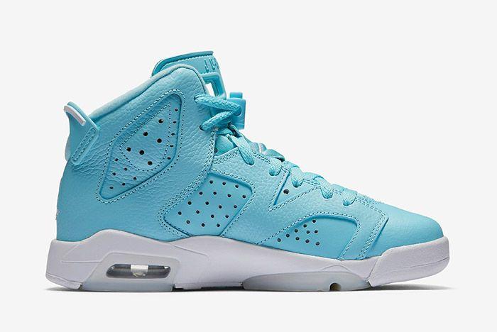 Air Jordan 6 Pantone Blue Gs 4
