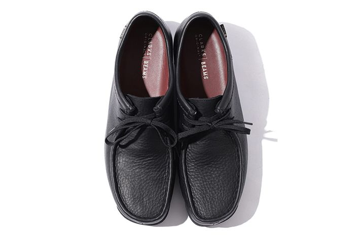 Beams Clarks Wallabee Low Gore Tex Black Top