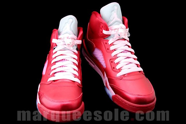 Air Jordan 5 Gs Valentines Day Quater Front Pair 1