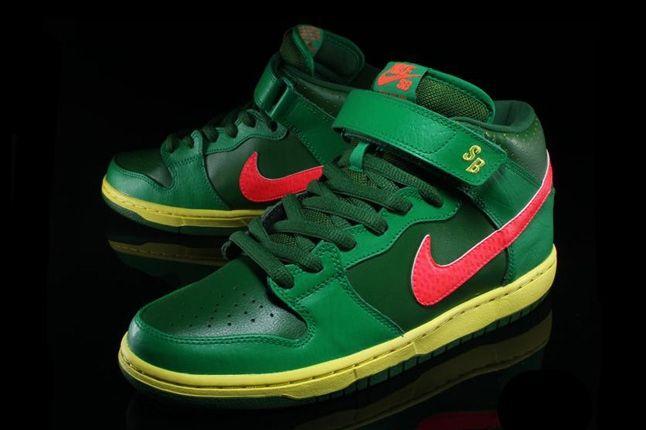 Nikesb Dunk Mid Pro Luck Green 2