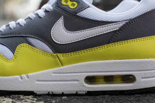 Nike Air Max 1 Essential Cool Grey Yellow 5 1