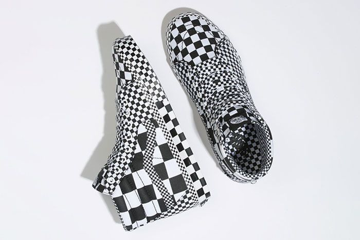 Vans Sk8 Hi All Over Checkerboard Top View