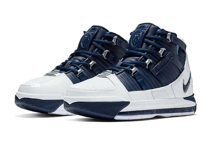 Nike Zoom Lebron 3 White Navy 2018 Retro 1