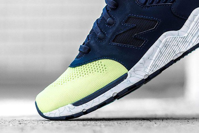 New Balance 009 Navy Lime 3