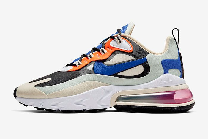Nike Air Max 270 React Fossil Hyper Royal Pistachio Frost Ci3899 200 Lateral