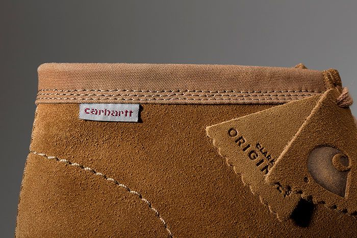 Carhartt Clarks Wallabee Brown Lateral Detail