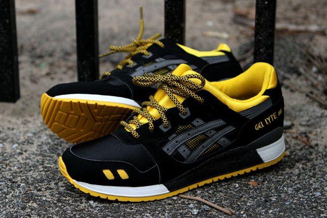 Asics Gel Lyte Iii Black Yellow Kith Pair 1