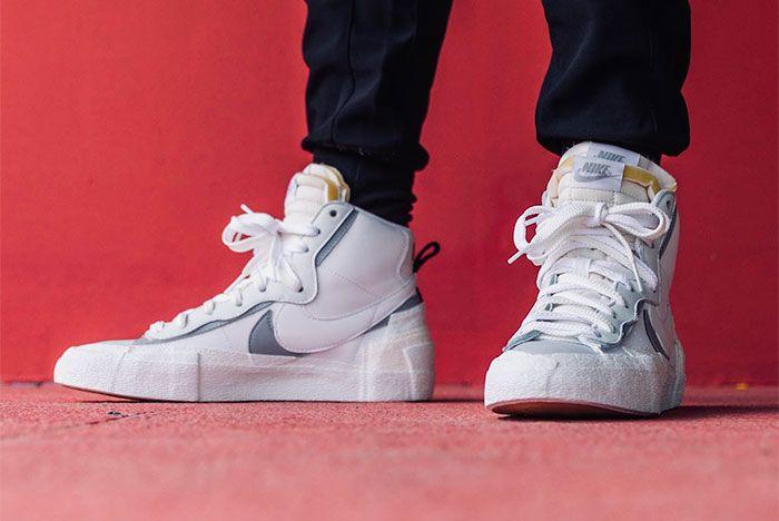 Nike Sacai Blazer Mid Wolf Grey Toe