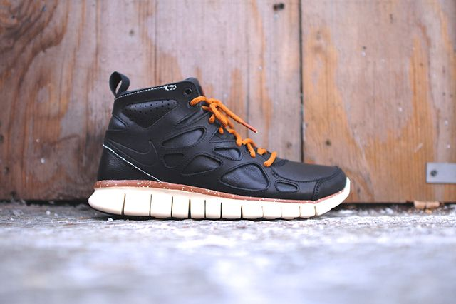 Nike Free Run 2 Mid Black Leather 1