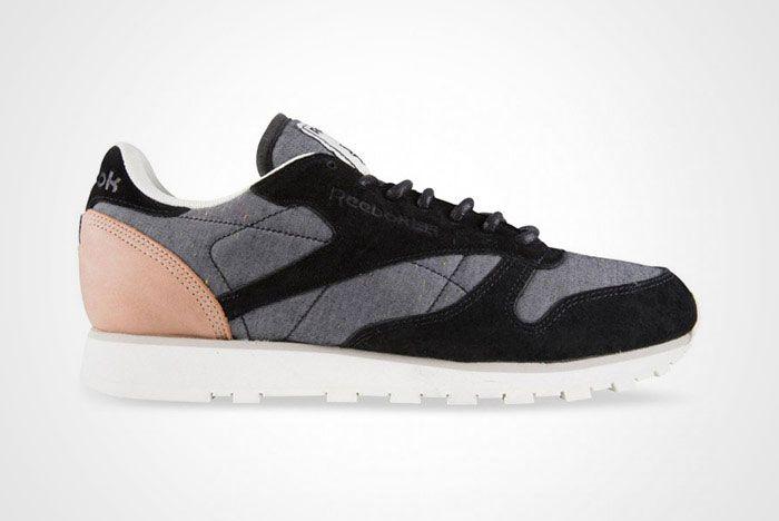 Reebok Classic Leather Black Grey Fleck Thumb