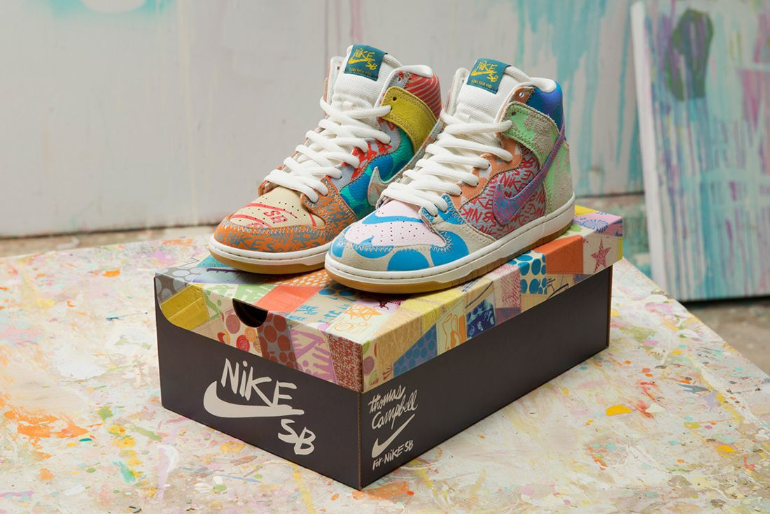 Thomas Campbell X Nike Sb Dunk High Premium What The9